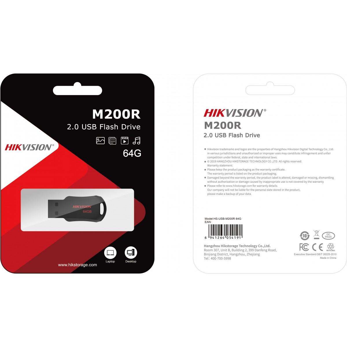 Pendrive Hikvision M200R 64GB, USB 2.0