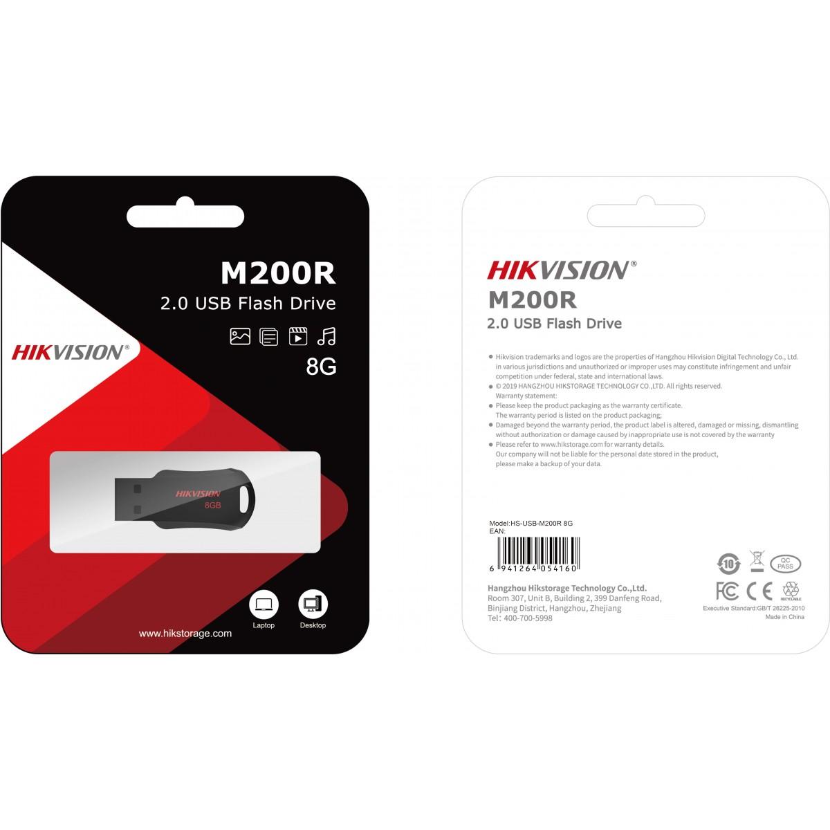 Pendrive Hikvision M200R 8GB, USB 2.0