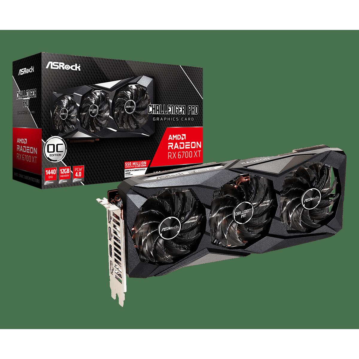 Placa de Vïdeo ASRock Radeon RX 6700 XT Challenger Pro OC, 12GB, GDDR6, 192bit, 90-GA2LZZ-00UANF