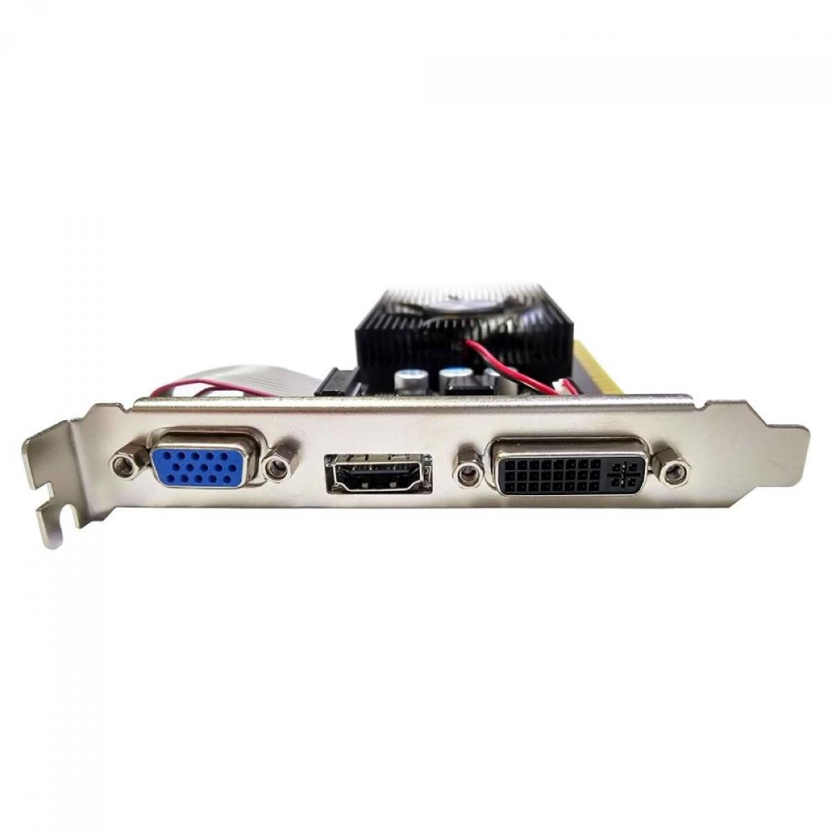 Placa de Vídeo AFox GeForce GT 730, 2GB, DDR3, 128bit, AF730-2048D3L6