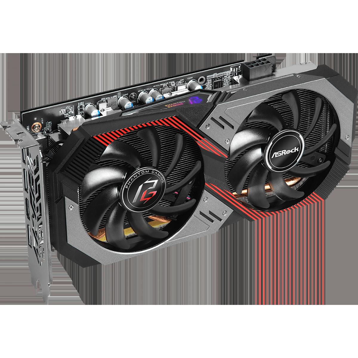 Placa de Vídeo ASRock, Radeon, RX 5600 XT Phantom Gaming D2 OC, 6GB, GDDR6, 192Bit, 90-GA1XZZ-00UANF