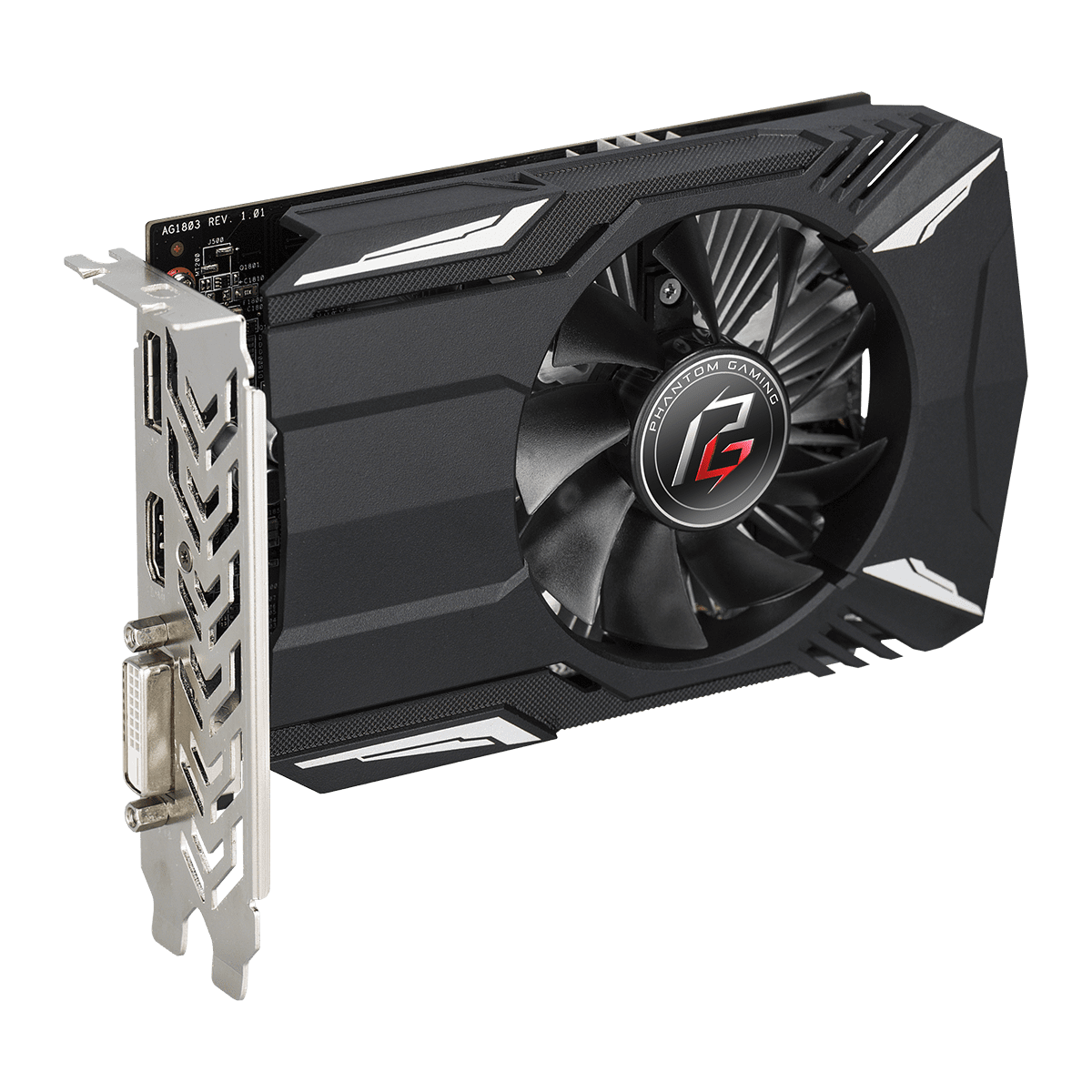 Placa de Vídeo ASRock Phantom Gaming Radeon RX 550, 2GB, GDDR5, 128bit, 90-GA0500-00UANF