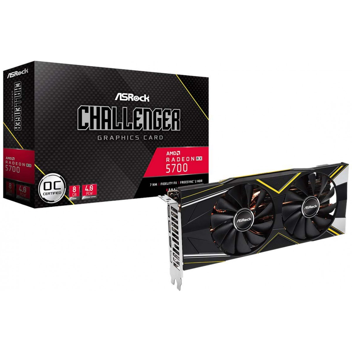 Placa de Vídeo Asrock Radeon Navi RX 5700 Challenger D, 8GB GDDR6, 256Bit, 90-GA17ZZ-00UANF
