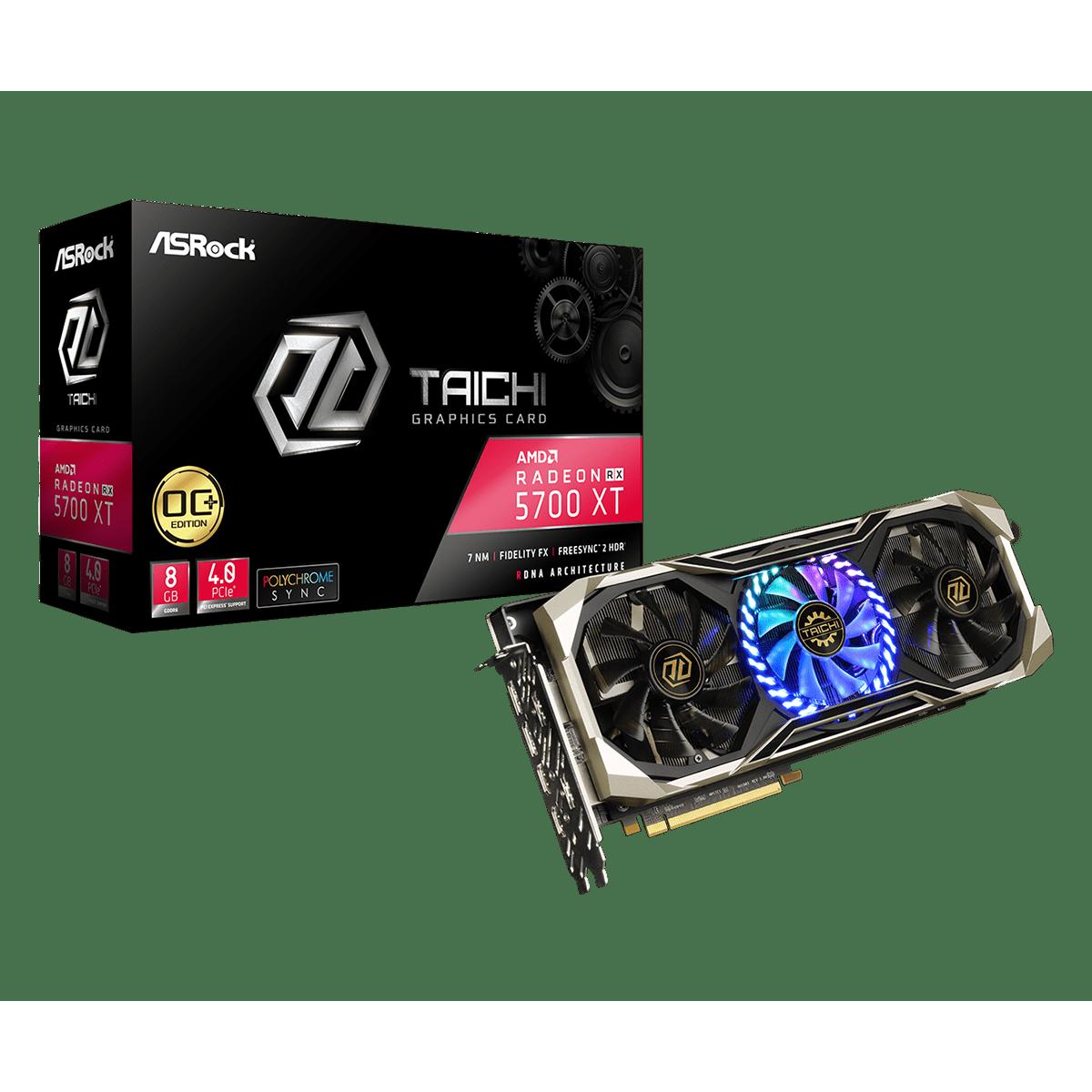 Placa de Vídeo Asrock Radeon Navi RX 5700 XT Taichi X 8G OC+, Triple Fan, 8GB GDDR6, 256Bit, 90-GA19ZZ-00UANZ