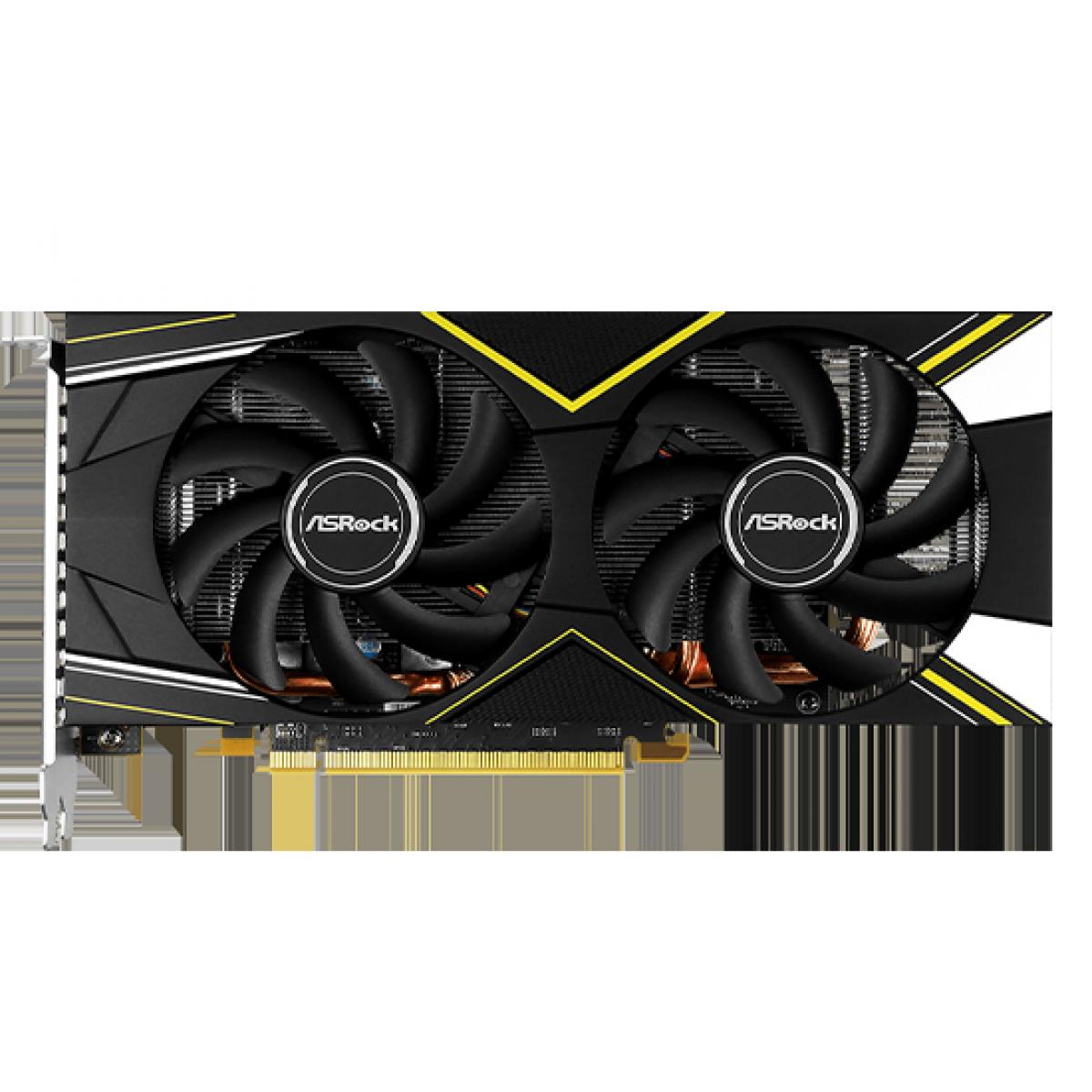 Placa de Vídeo Asrock Radeon Navi RX 5500 XT Challenger D OC, Dual Fan, 8GB GDDR6, 128Bit, 90-GA1LZZ-00UANF