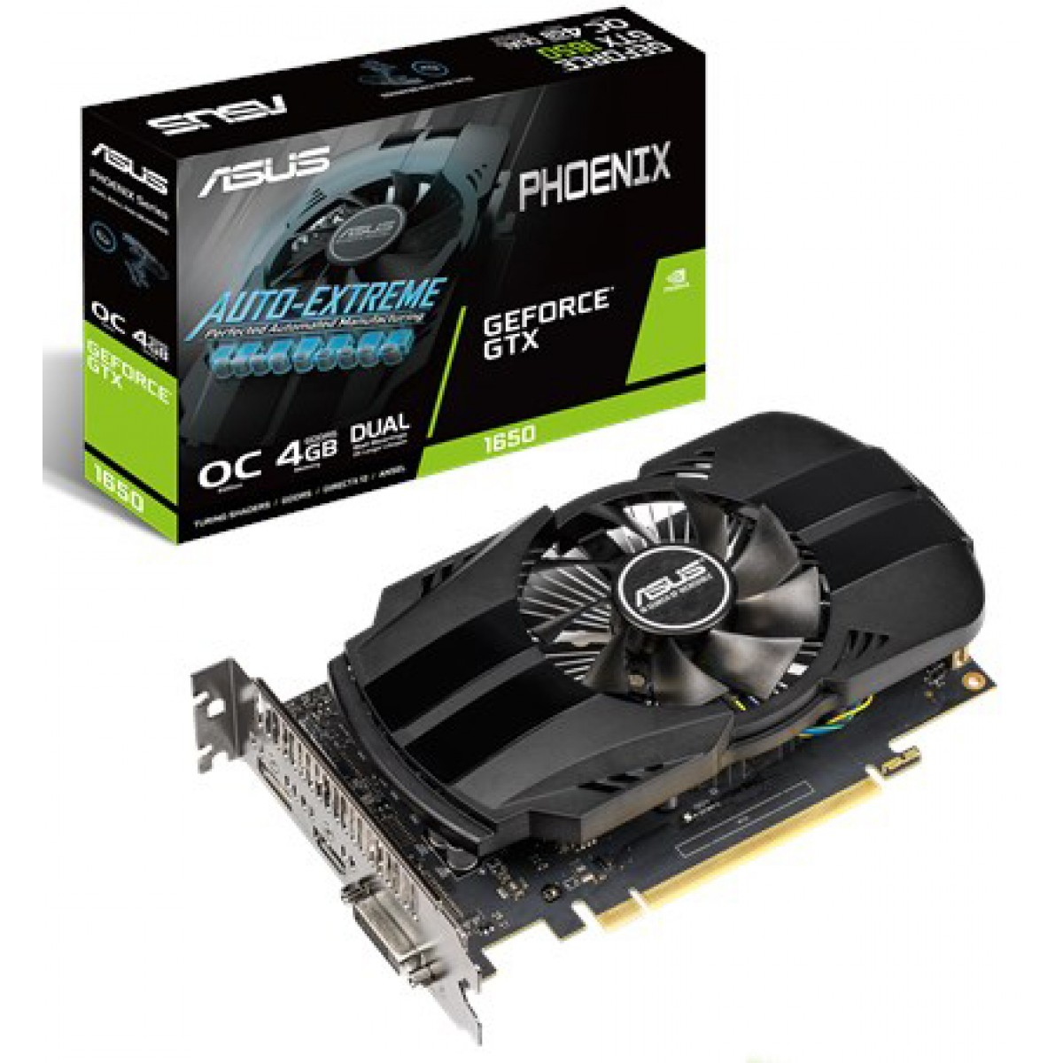 Placa de Video Asus, GeForce, GTX 1650 OC, 4GB, GDDR5, 128Bit, PH-GTX1650-O4G