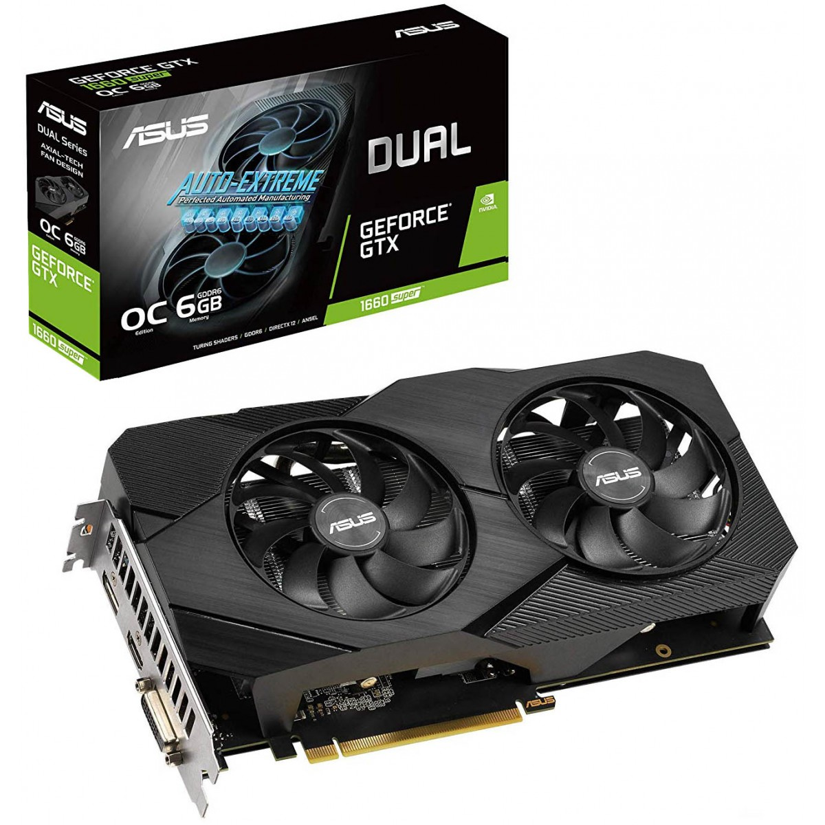 Placa de Vídeo Asus GeForce GTX 1660 Super Dual OC, 6GB GDDR6, 192Bit, DUAL-GTX1660S-O6G-EVO