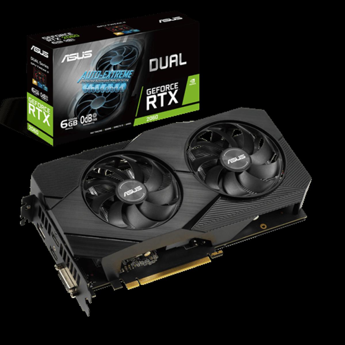 Placa de Vídeo Asus GeForce RTX 2060 EVO Dual, 6GB, GDDR6, 192bit, DUAL-RTX2060-6G-EVO