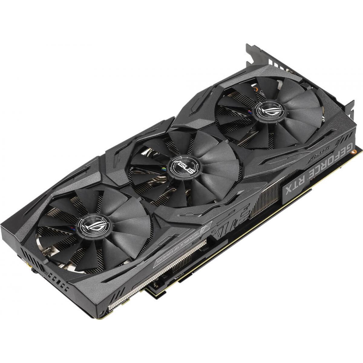 Placa de Vídeo Asus Geforce RTX 2070 ROG STRIX GAMING OC, 8GB GDDR6, 256Bit, ROG-STRIX-RTX2070-O8G-GAMING