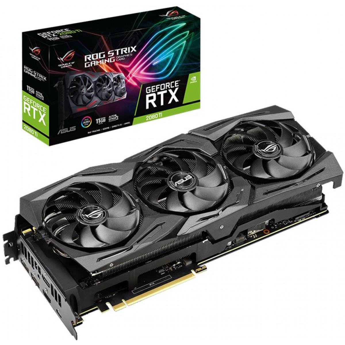 Placa de Vídeo Asus Geforce RTX 2080 Ti Rog Strix Gaming, 11GB GDDR6, 352Bit, ROG-STRIX-RTX2080TI-11G-GAMING