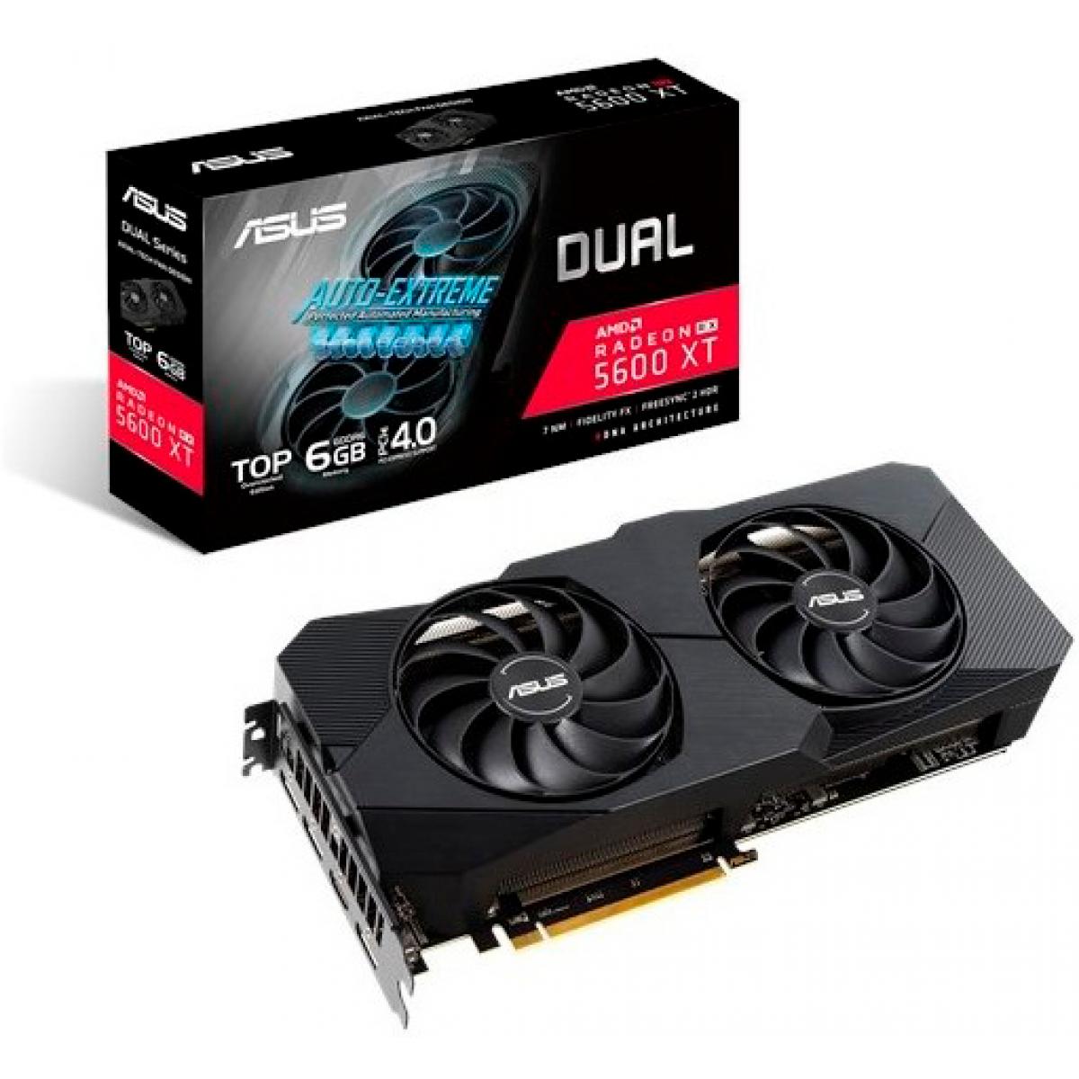 Placa de Vídeo Asus, Radeon, Navi RX 5600 XT EVO, 6GB, GDDR6, 192Bit, DUAL-RX5600XT-T6G-EVO