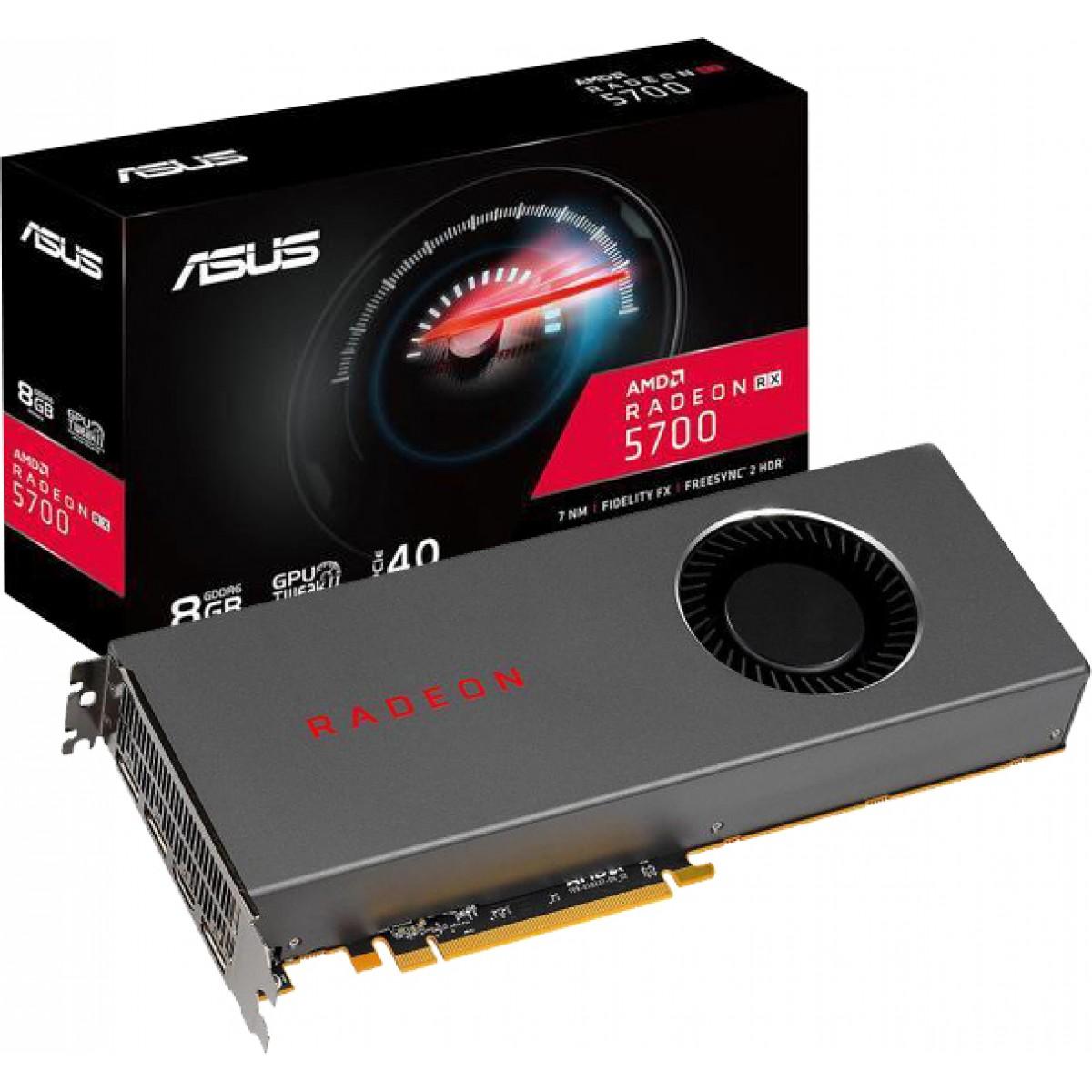 Placa de Vídeo Asus Radeon Navi RX 5700, 8GB GDDR6, 256Bit, RX5700-8G