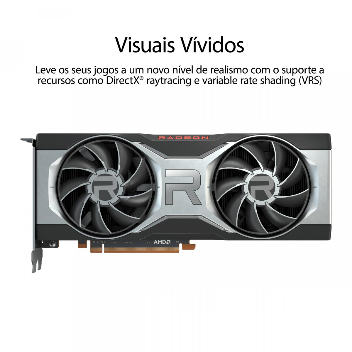 Placa de Vídeo ASUS Radeon RX 6700 XT, 12GB, GDDR6, 256bit, RX6700XT-12G
