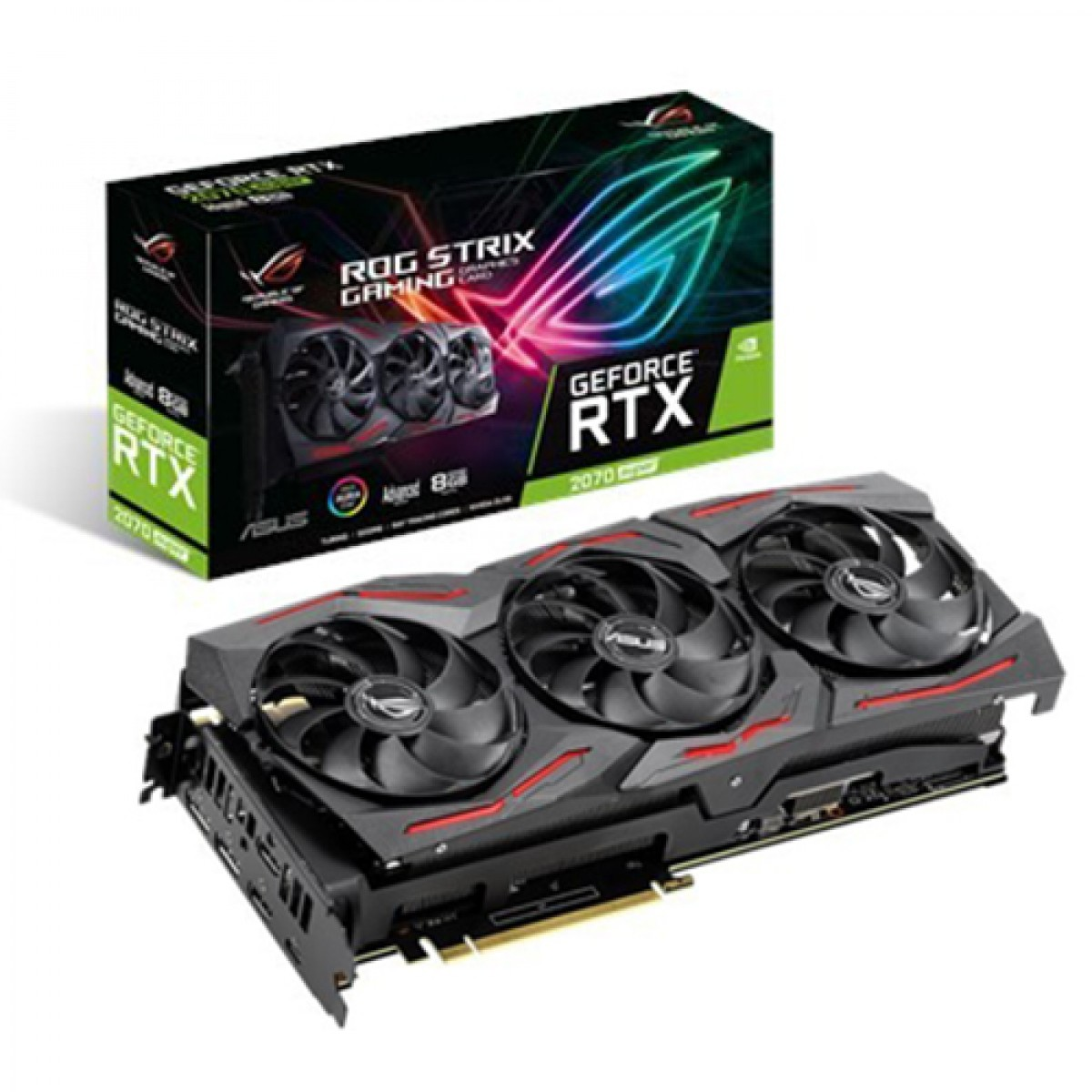 Placa de Vídeo Asus, Rog Strix GeForce, RTX 2070 Super Advanced Edition, 8GB, GDDR6, 256Bit, ROG-STRIX-RTX2070S-A8G-GAMING