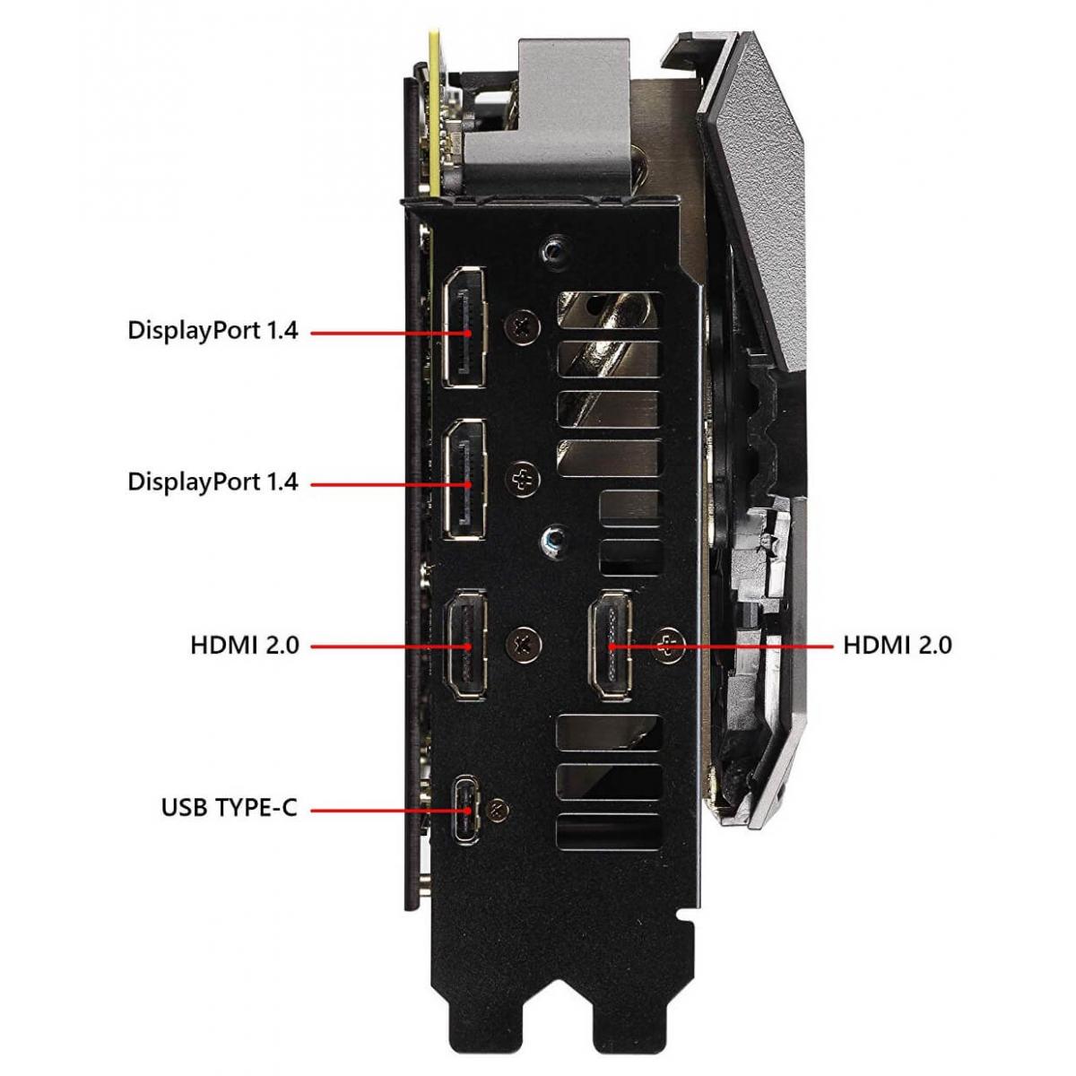 Placa de Vídeo Asus, Geforce, RTX 2080 Ti OC Rog Strix Gaming, 11GB, GDDR6, 352Bit, ROG-STRIX-RTX2080TI-O11G-GAMING