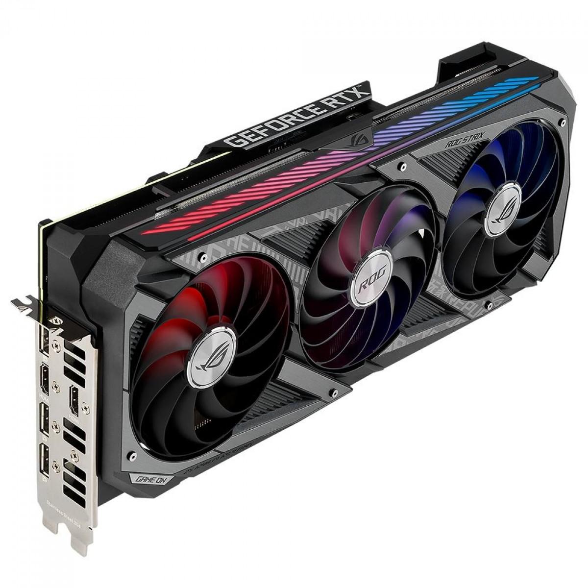Placa de Vídeo Asus, ROG Strix, Geforce RTX 3060 Ti, LHR, V2, 8GB, GDDR6, DLSS, Ray Tracing, ROG-STRIX-RTX3060TI-8G-V2-GAMING