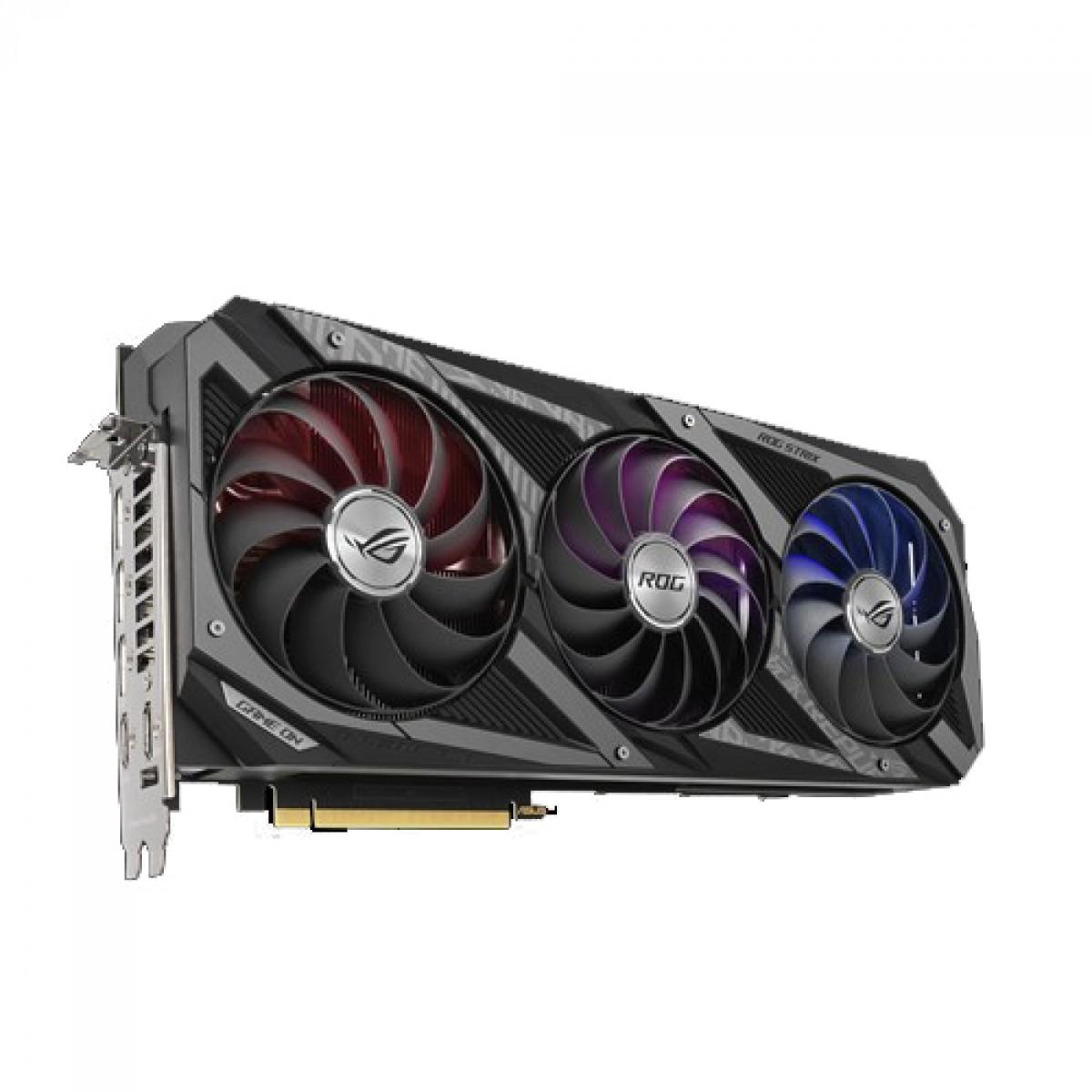 Placa de Vídeo Asus ROG Strix Geforce, RTX 3080, 10GB, GDDR6X, 320bit, ROG-STRIX-RTX3080-10G-GAMING