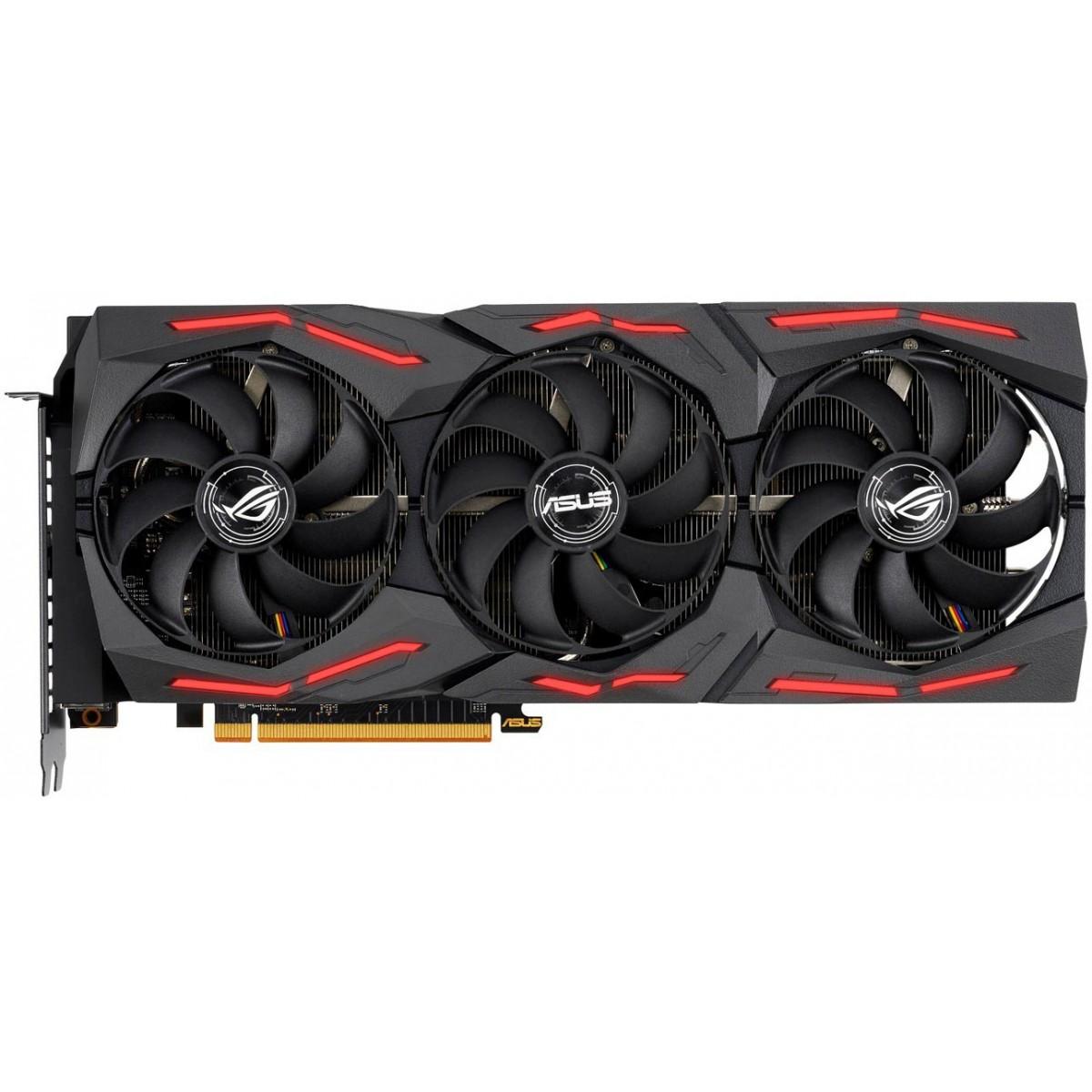 Placa de Vídeo Asus, Rog Strix Radeon, Navi RX 5700XT OC, 8GB, GDDR6, 256Bit, ROG-STRIX-RX5700XT-O8G-GAMING
