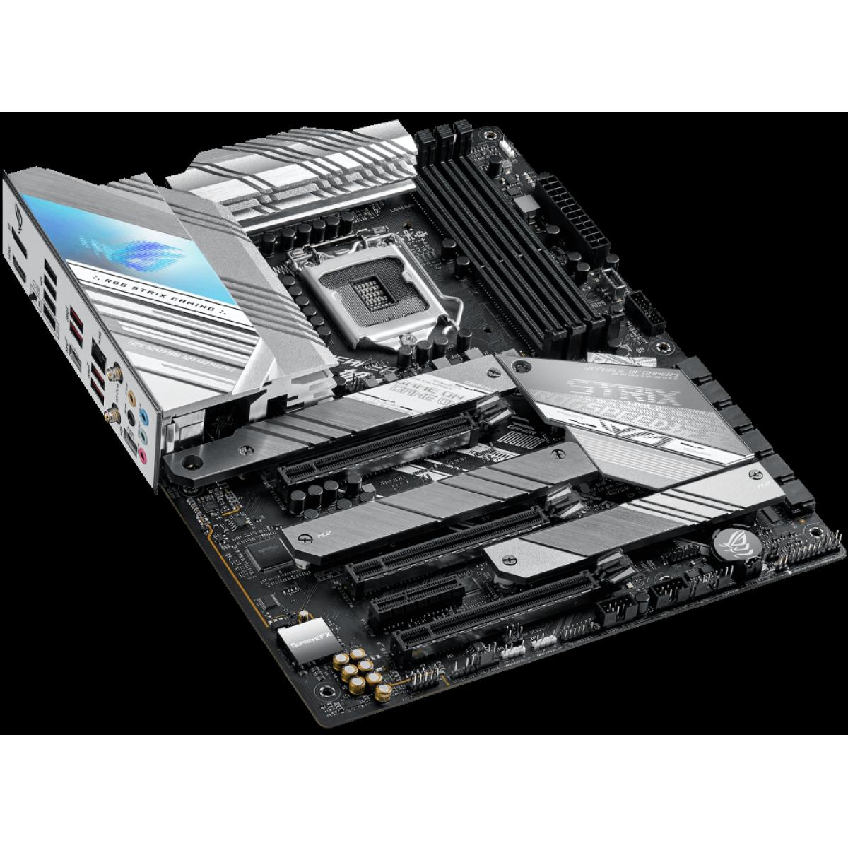 Placa Mãe Asus ROG STRIX Z590-A GAMING WIFI, Chipset Z590, Intel LGA 1200, ATX, DDR4, 90MB1660-M0EAY0