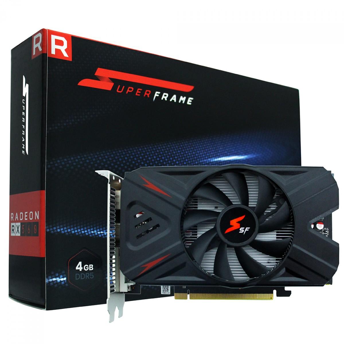 Placa de Vídeo SuperFrame Radeon RX 560-D 4GB, GDDR5, 128bit, RX560/4GD5P8DIP