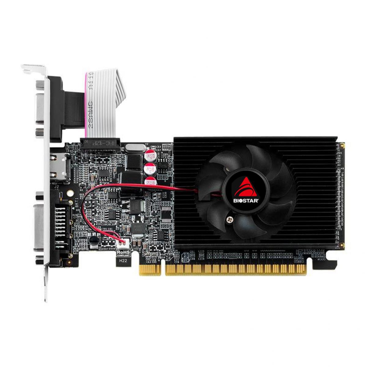 Placa de Vídeo Biostar, GeForce, GT 710, 2GB, GDDR3, 64bit, VN7103THX6-TBARL-BS2
