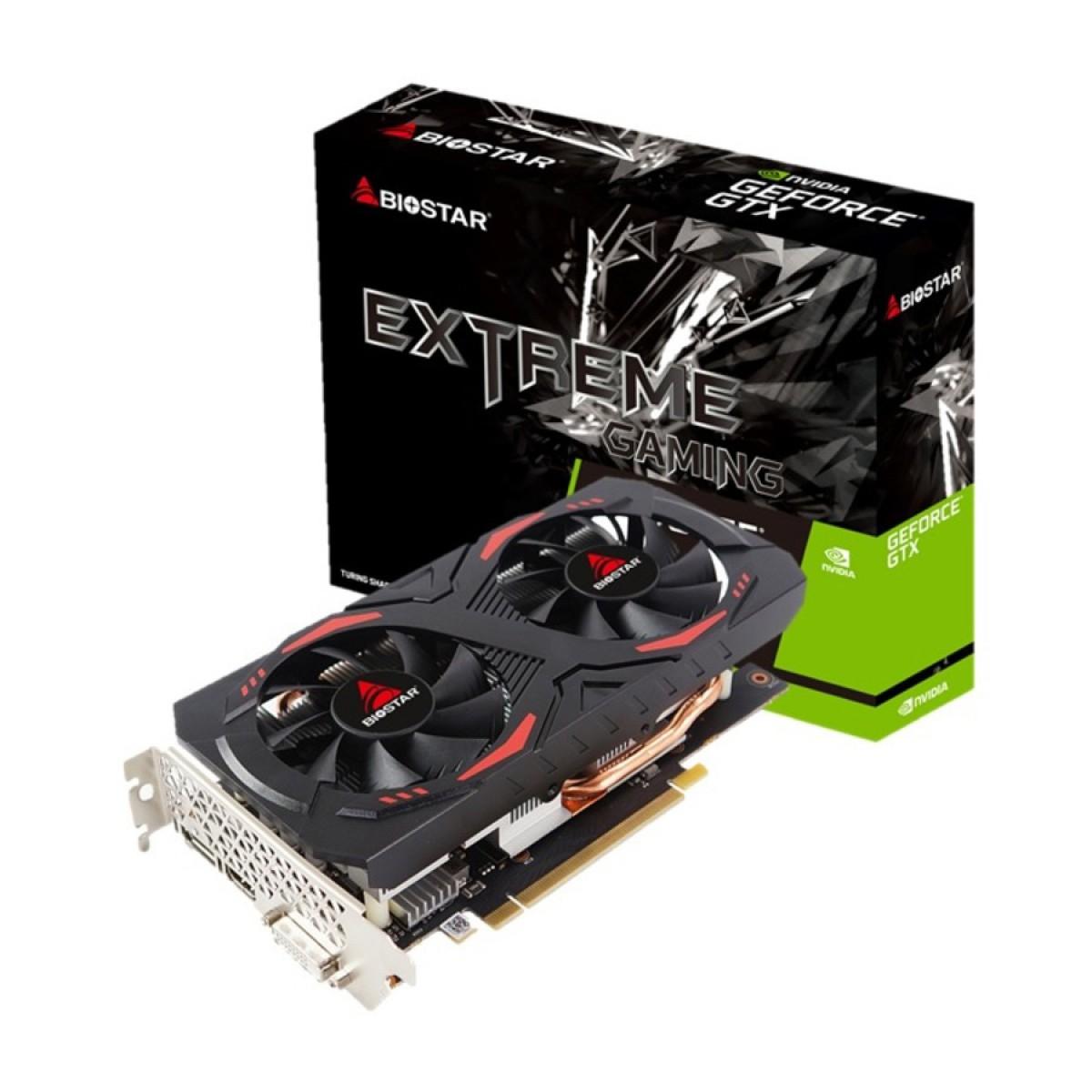 Placa de Vídeo Biostar, GeForce, GTX 1660 Dual, 6GB, GDDR5, 192Bit, VN1665XF69-TB1RH-BS2