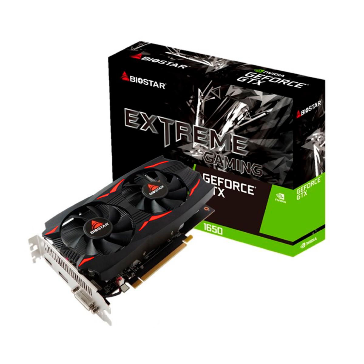 Placa de Vídeo Biostar, Geforce GTX 1650, 4GB, GDDR5, 128 Bit, VN1655XF41-TB1RH-BS2