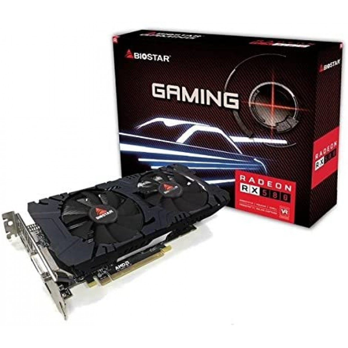 Placa de Video Biostar, Radeon, RX 580, 8GB, GDDR5, 256Bit, VA5805RV82-TBSRH-BS2