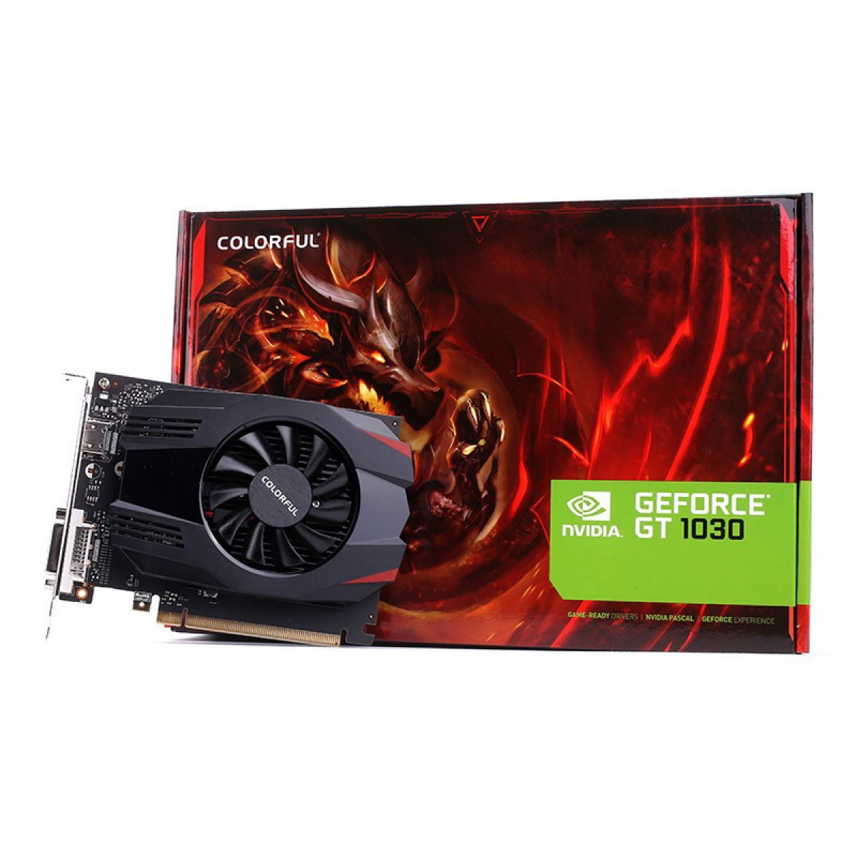 Placa de Vídeo Colorful, GeForce, GT 1030, 2GB, GDDR5, 64Bit, GT1030 2G V3-V - Open Box