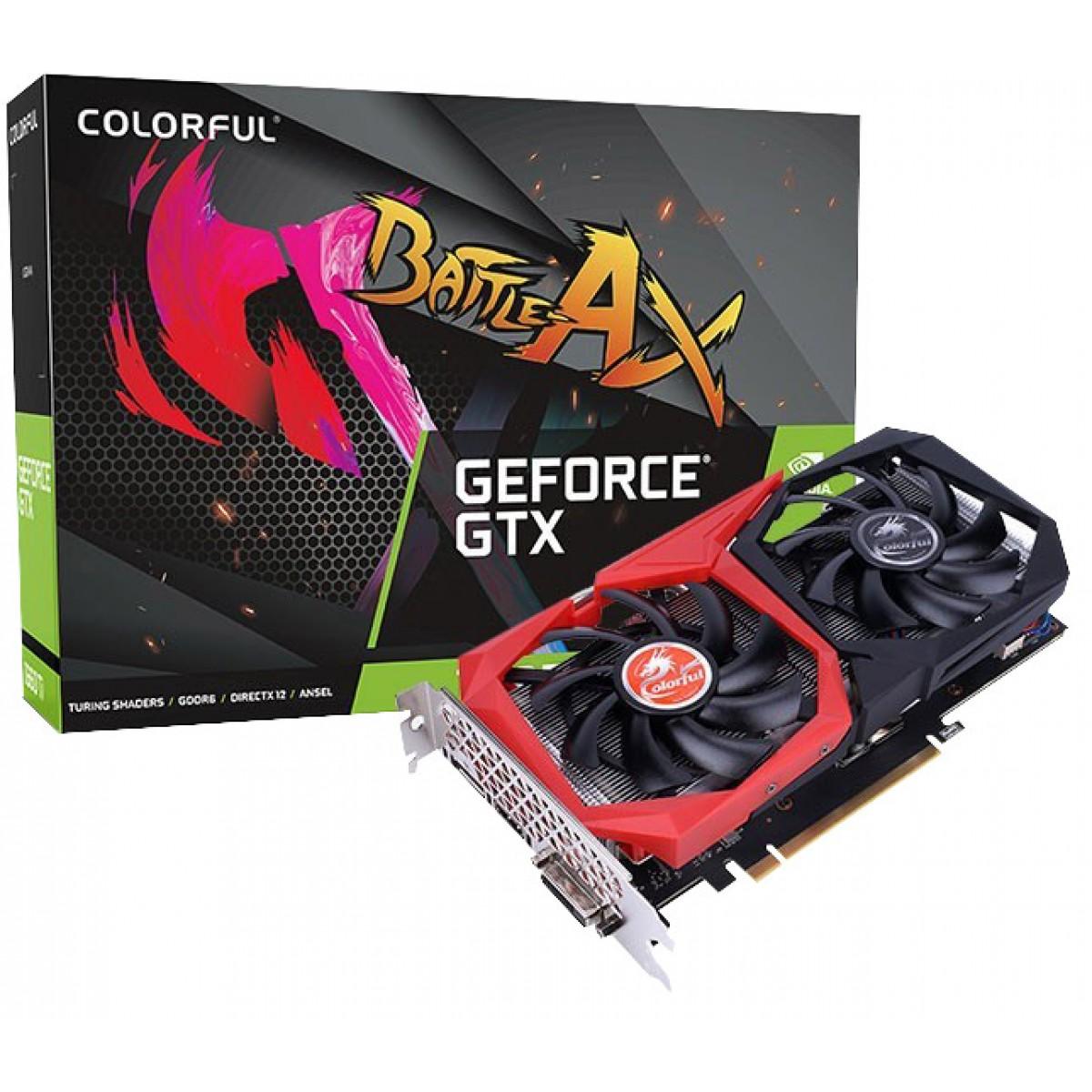 Placa de Vídeo Colorful GeForce GTX 1660 NB 6G-V Dual, 6GB GDDR5, 192Bit