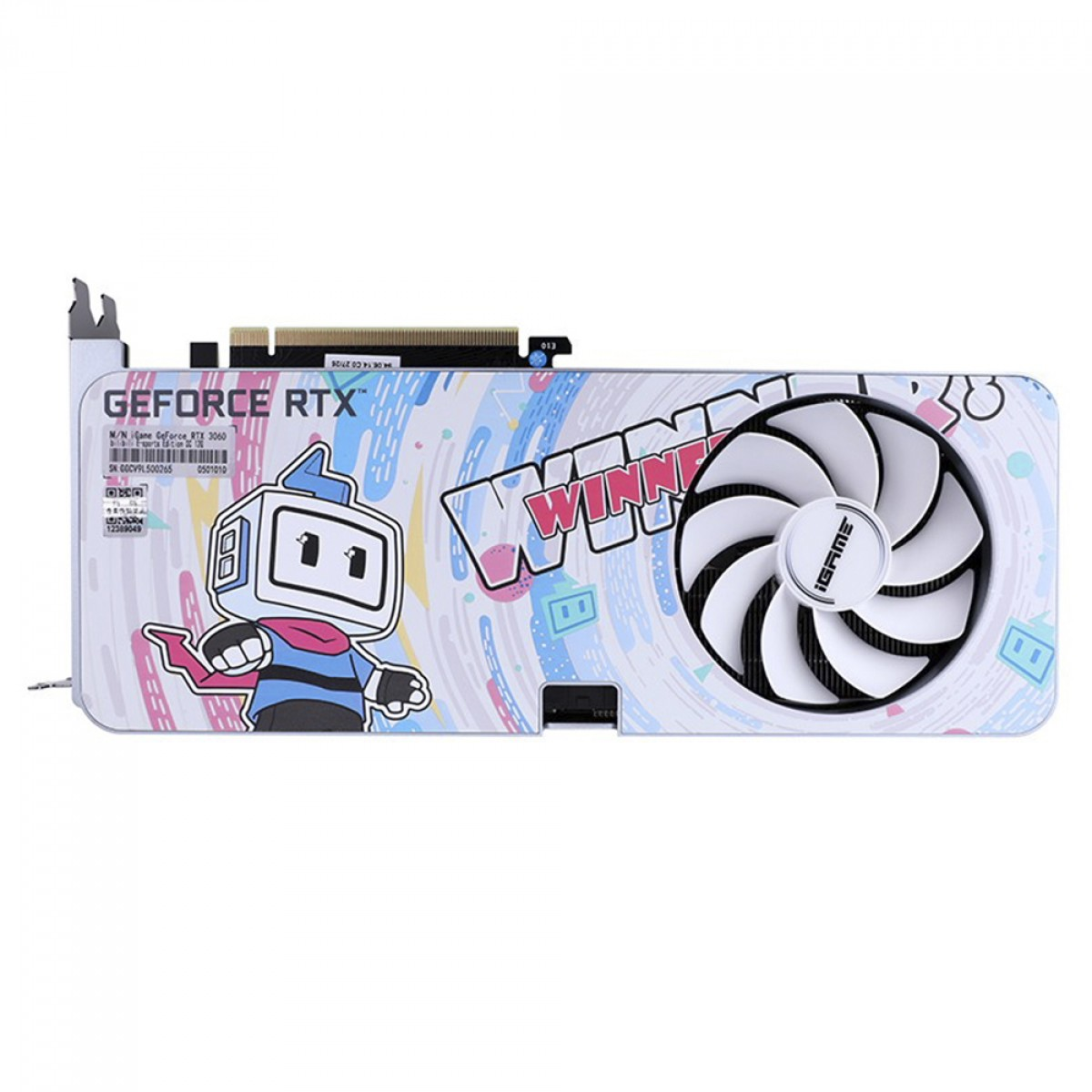 Placa de Vídeo Colorful, GeForce, iGame RTX 3060 Bilibili E-sports Edition, LHR, OC 12G-V, GDDR6, DLSS, Ray Tracing