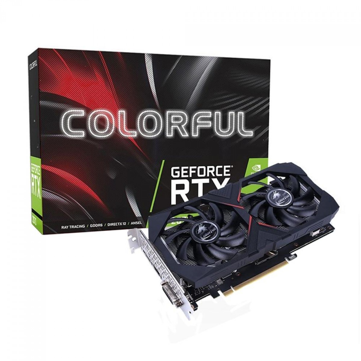 Placa de Vídeo Colorful, GeForce, RTX 2060 Super Dual, 8GB, GDDR6, 256Bit, RTX 2060 SUPER 8G-V