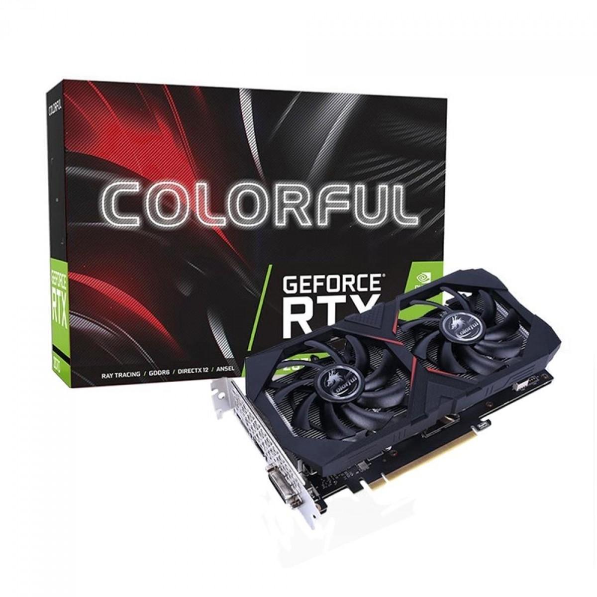Placa de Vídeo Colorful GeForce RTX 2070 Dual, 8GB GDDR6, 256Bit