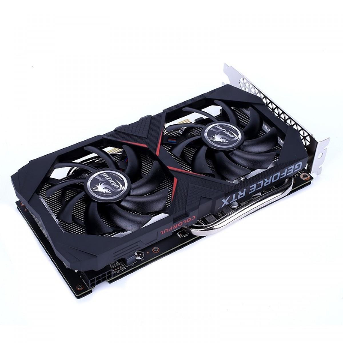 Placa de Vídeo Colorful, GeForce, RTX 2070, Dual, 8GB, GDDR6, 256Bit, DUAL-RTX2070-8G - Open Box