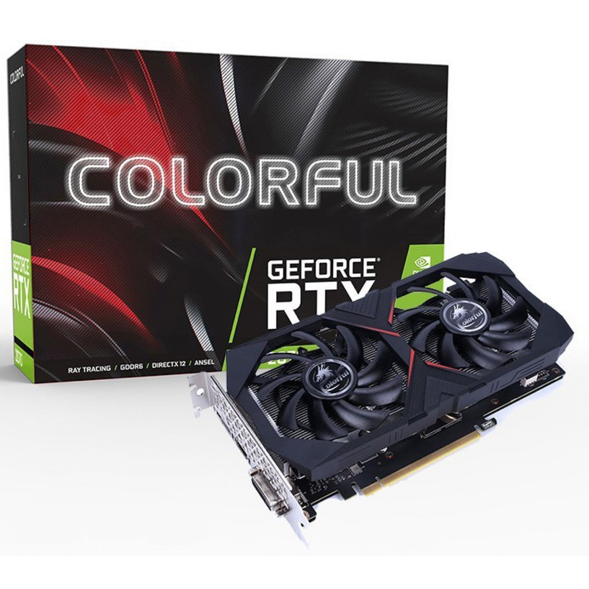 Placa de Vídeo Colorful iGame GeForce RTX 2060 6G V2-V, 6GB GDDR6, 192Bit