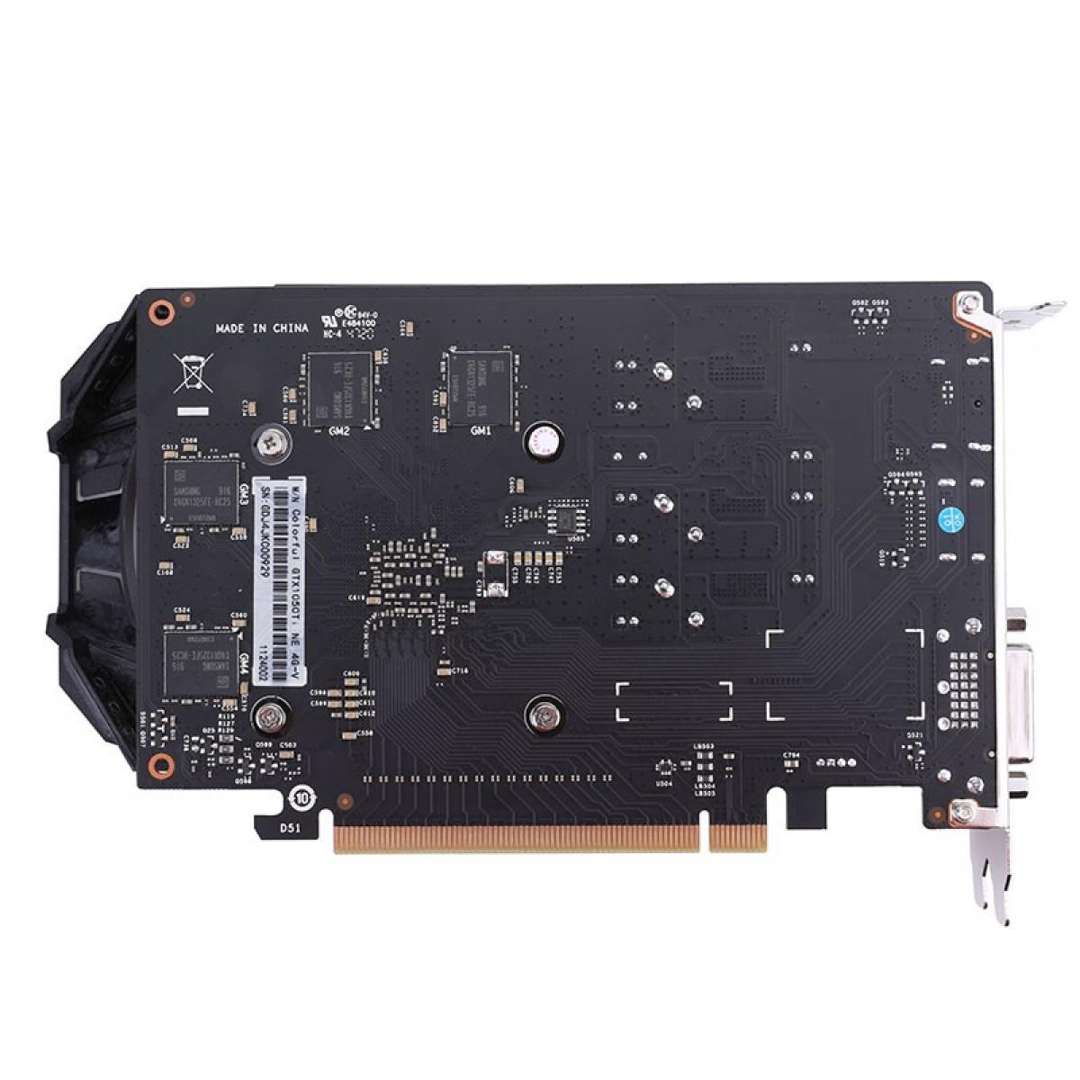 Placa de Vídeo Colorful NVIDIA GeForce GTX 1050 Ti, 4GB, GDDR5, 128bit, 212327100844