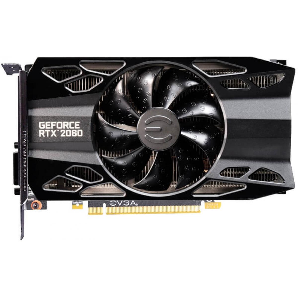 Placa de Vídeo EVGA GeForce RTX 2060 XC, 6GB, GDDR6, 192bit, 06G-P4-2063-KR