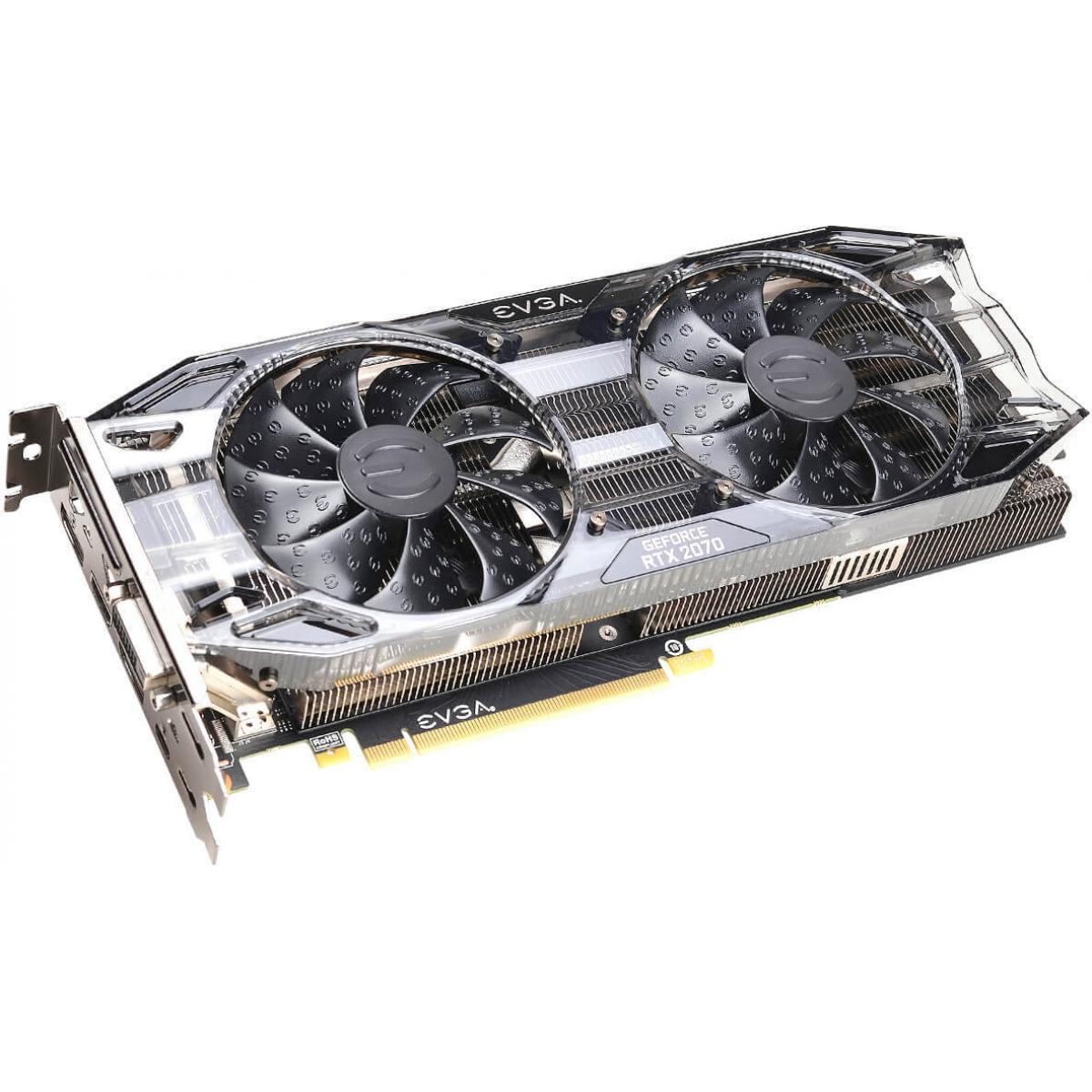 Placa de Vídeo EVGA Geforce RTX 2070 Black Gaming Dual, 8GB GDDR6, 256Bit, 08G-P4-1071-KR