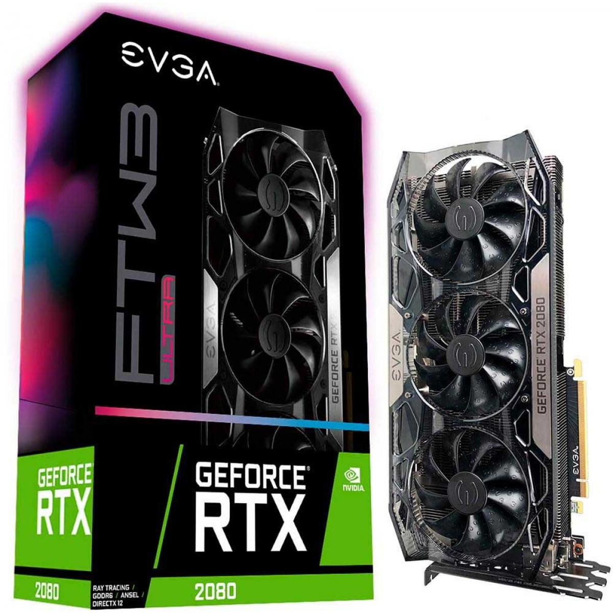 Placa de Vídeo EVGA Geforce RTX 2080 FTW3 Ultra Gaming, 8GB GDDR6, 256Bit, 08G-P4-2287-KR