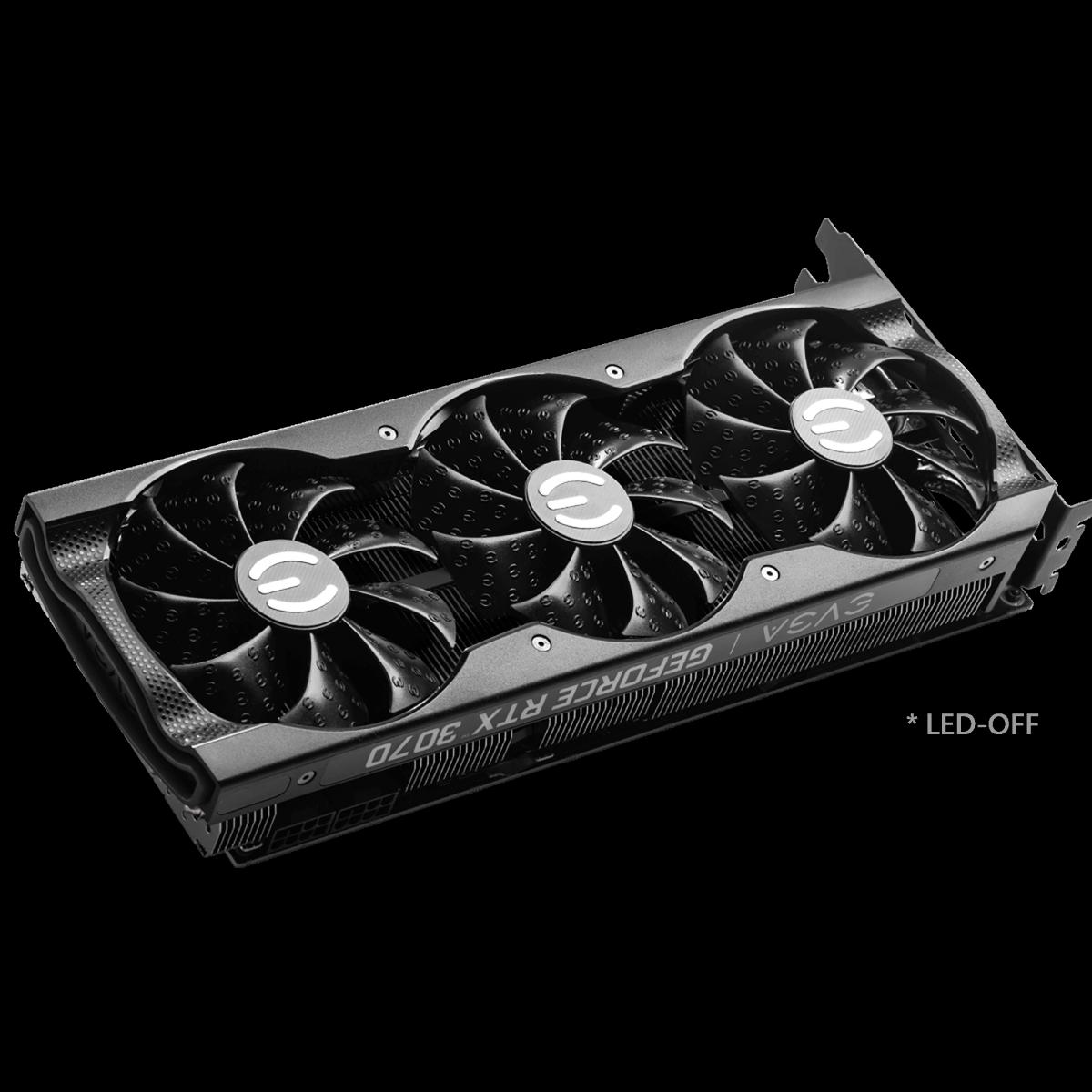 Placa de Vídeo EVGA GeForce RTX 3070 XC3 Black Gaming, 8GB, GDDR6, 256bit, 08G-P5-3751-KR