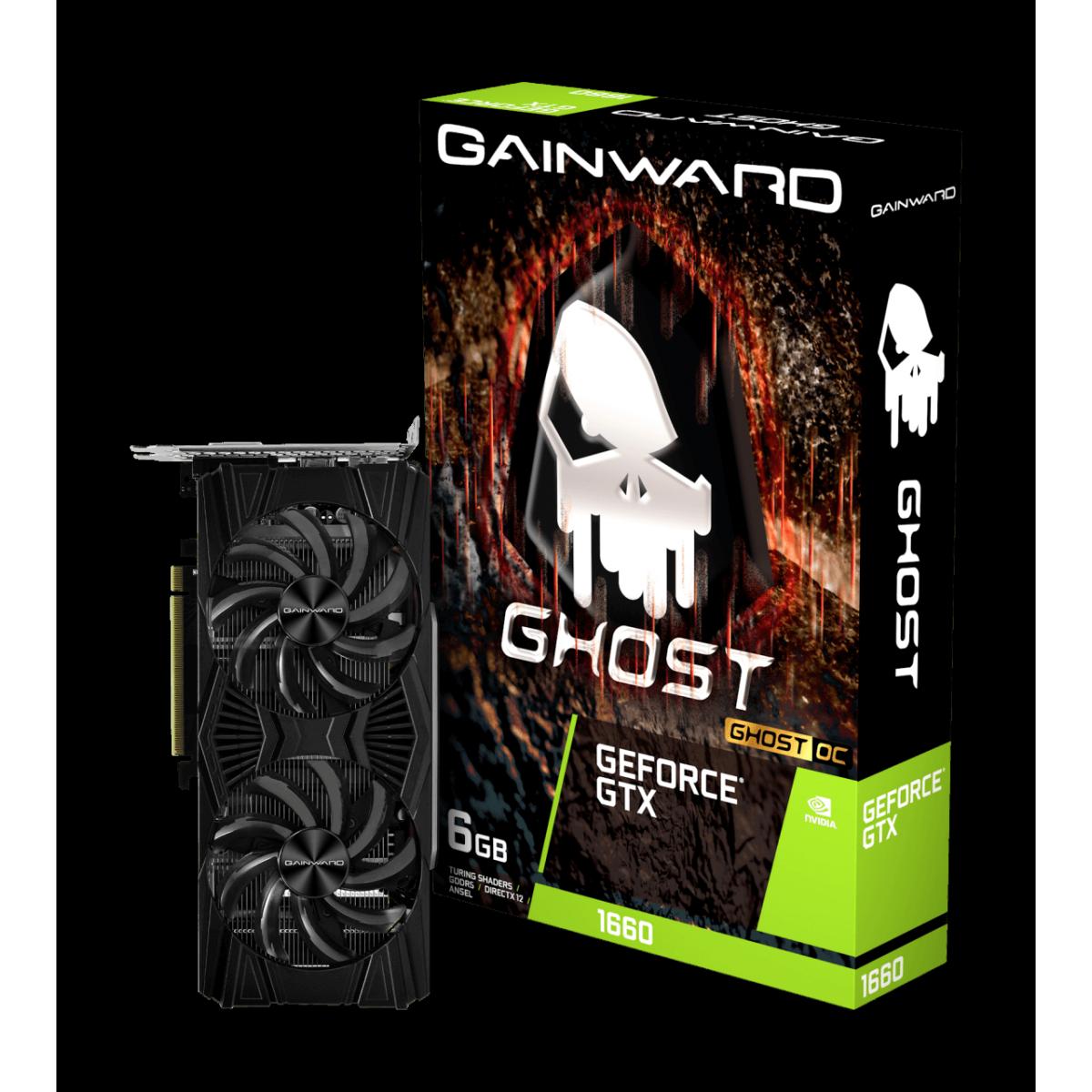 Placa de Vídeo Gainward GeForce GTX 1660 Ghost OC Dual, 6GB GDDR5, 192Bit, NE51660018J9-1161X