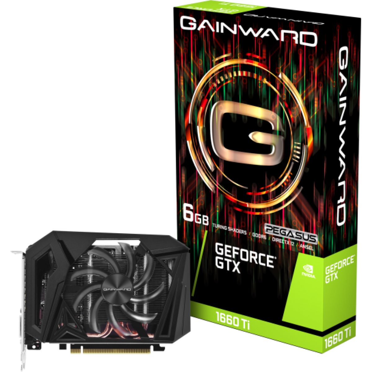 Placa de Vídeo Gainward GeForce GTX 1660 Ti Pegasus, 6GB GDDR6, 192Bit