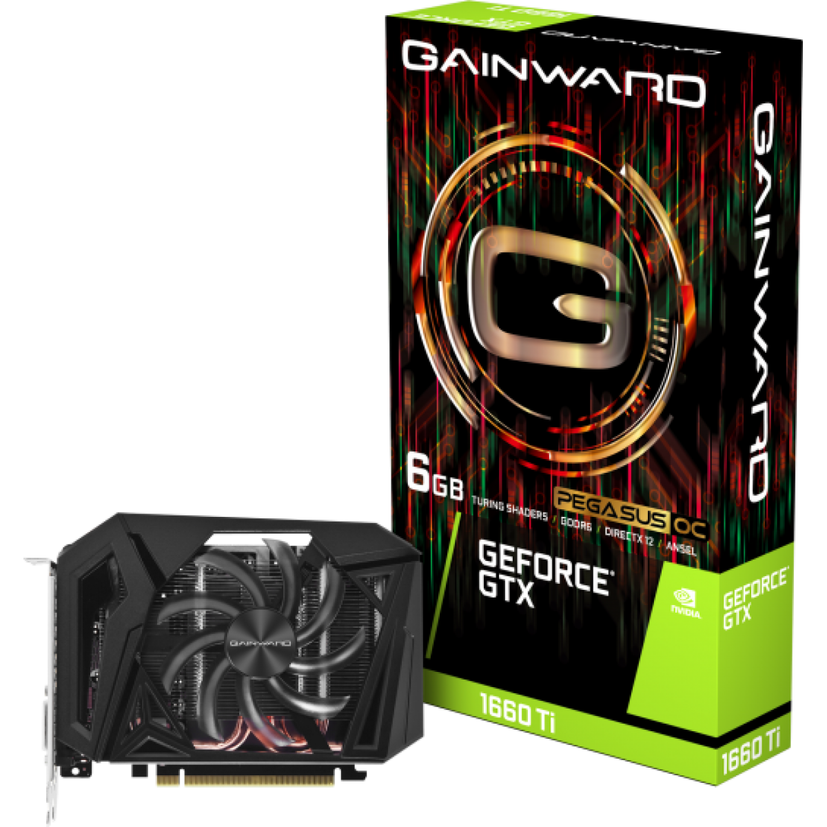 Placa de Vídeo Gainward GeForce GTX 1660 Ti Pegasus OC, 6GB GDDR6, 192Bit
