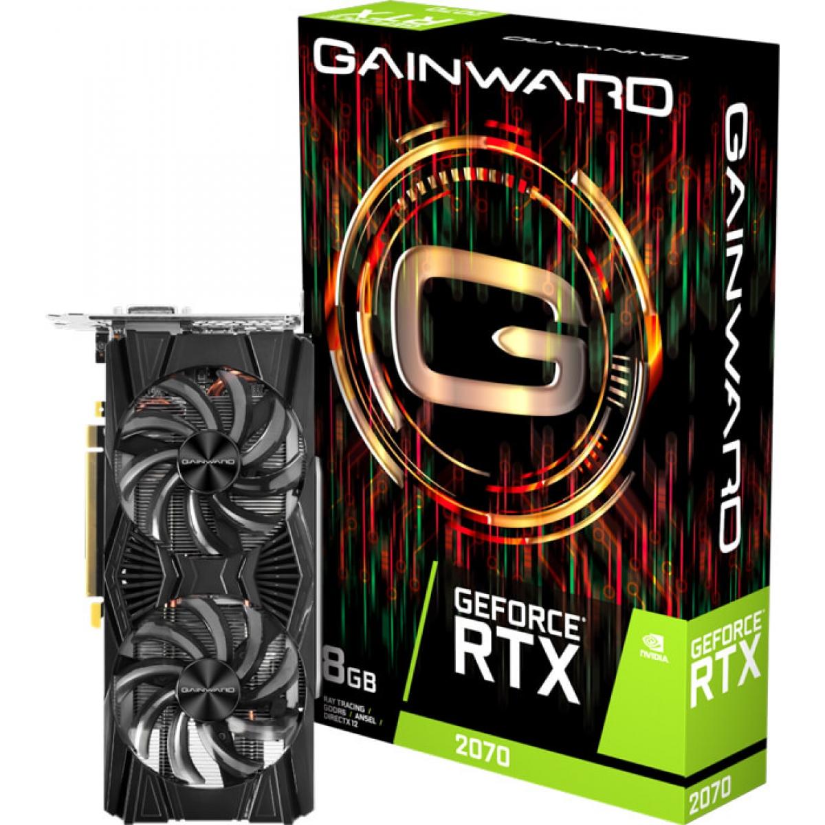 Placa De Vídeo Gainward Geforce RTX 2070 Dual Fan, 8GB GDDR6, 256Bit