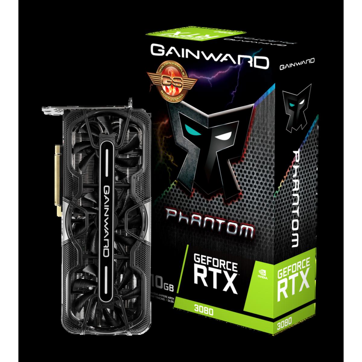 Placa de Vídeo Gainward, GeForce RTX 3080 Phantom GS, 10GB, GDDR6, 320Bit, NED3080H19IA-1020P