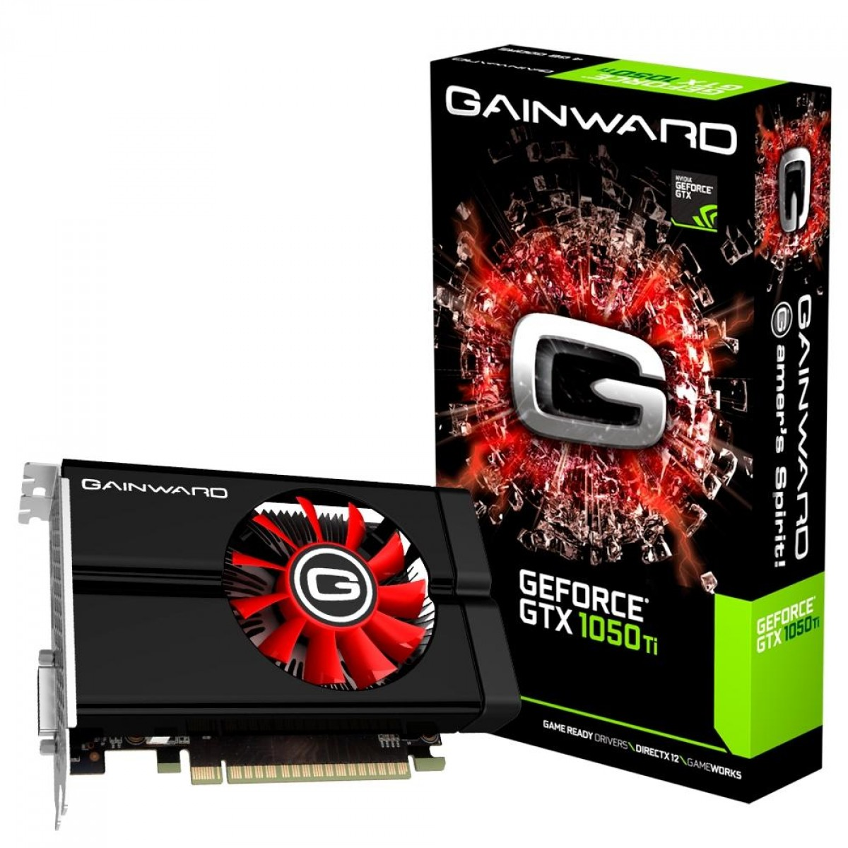 Placa de Vídeo Gainward NVIDIA GeForce GTX 1050 Ti, 4GB, GDDR5, 128bit, NE5105T018G1-1070F