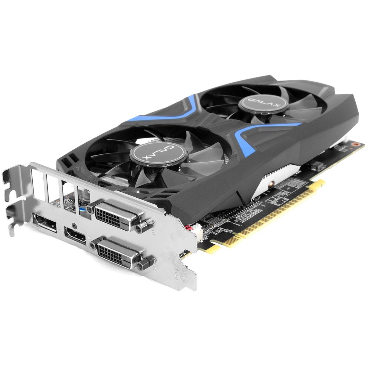Placa de Vídeo Galax GeForce GTX 1050 Ti EXOC Dual, 4GB GDDR5, 128Bit, 50IQH8DVN6EC