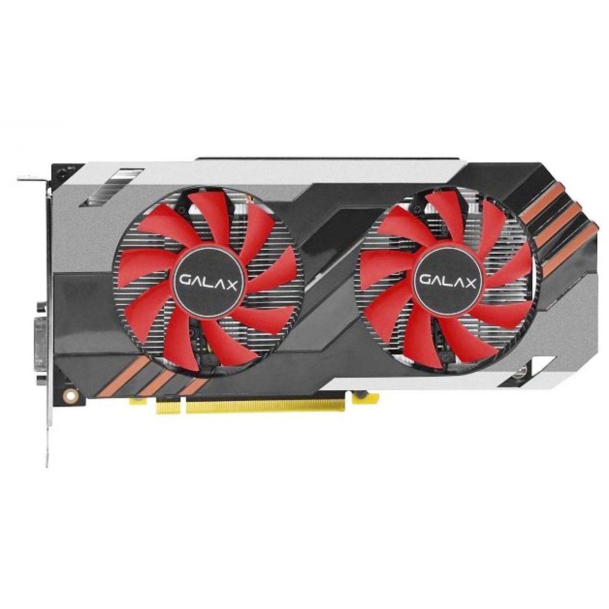 Placa de Vídeo Galax GeForce GTX 1060 OC Dual, 6GB GDDR5, 192Bit, 60NRH7DSN5E6