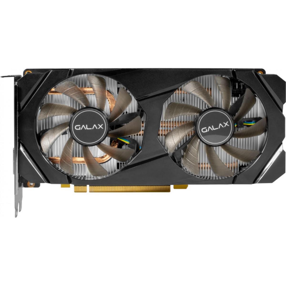 Placa de Vídeo Galax, GeForce, GTX 1660, 1-Click OC, Dual, 6GB, GDDR5, 192Bit, 60SRH7DSY91C