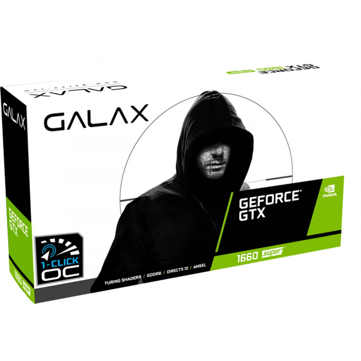 Placa de Vídeo Galax GeForce GTX 1660 Super EX (1-Click OC) Dual, 6GB GDDR6, 192Bit, White, 60SRL7DS04WS